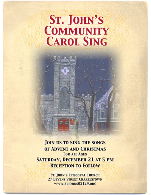 St. John's Community Carol Sing Flyer
