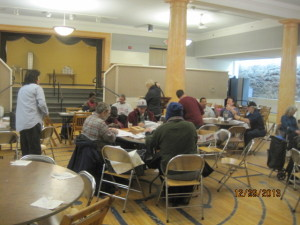 The Monday gathering at The MANNA Program