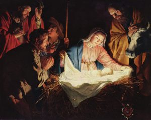 The Adoration of the Shepherds by Gerard van Honthorst, (1590–1656)
